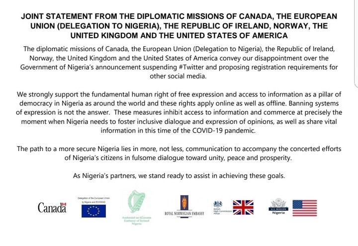 eu letter to Nigeria government